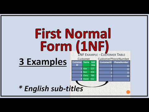 Data Base Normalization - First Normal Form