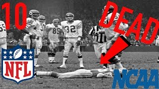 10 American Football Players Who Died While on the Field!! (COLLEGE LEVEL AND UP)