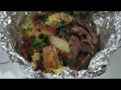 Steak and Cheesy Bacon Potato Foil Packs