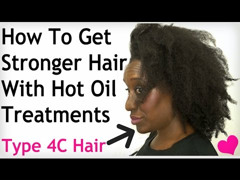 Do It Yourself Hot Oil Treatment for DRY, Tangled, NATURAL HAIR: Prevent Breakage and Knots