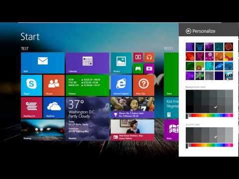 How To Change Windows 8/8.1 Start Background using Wallpaper