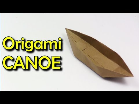 ⚓ Origami CANOE That Floats on water 🚤 ✦IN ENGLISH✦🛳️🚢 Yakomoga Easy Origami tutorial 🛳️🌊♥️