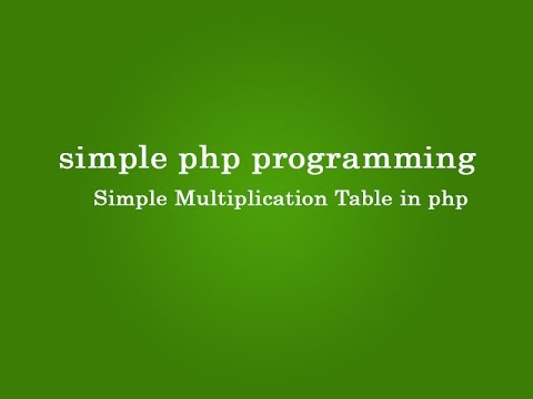 Simple Multiplication Table in php