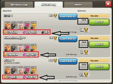 Clash Of Clans - 3 STARS Troops/Attack Strategy For TownHall 6 [Cost ONLY 22000 ELIXIR]