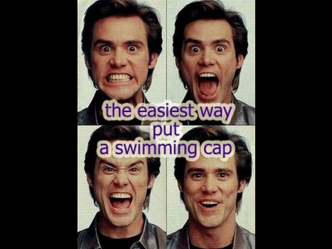 This is how you put a swimming cap on!