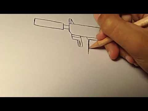 How-to draw a gun for beginners