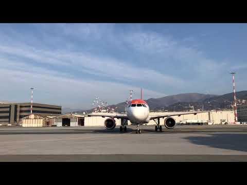 Primo volo easyJet all'aeroporto di Genova