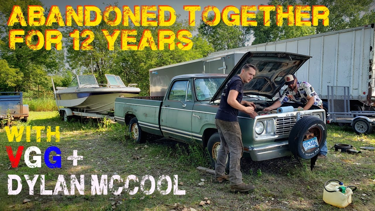 Will an ABANDONED Truck AND Boat Run After 12 Years!? - Part 1