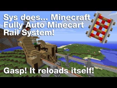 Minecraft: Fully Auto, Hopper Minecart Rail System