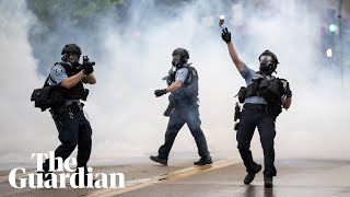 Minneapolis police fire teargas at protesters after death of George Floyd