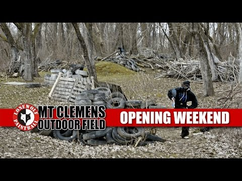 2016 Opening Weekend at Mount Clemens Outdoor Field Lone Wolf Paintball Michigan