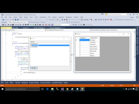 C# Tutorial - How to Load selected columns data in DataGridView | FoxLearn