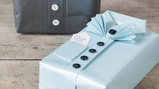 DIY : Gift wrapping idea by Søstrene Grene