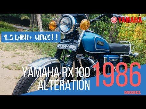 YAMAHA RX 100 Bike Alteration (1986 Model). Modified|Restoration