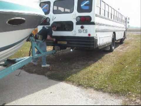 School Bus Towing a Boat