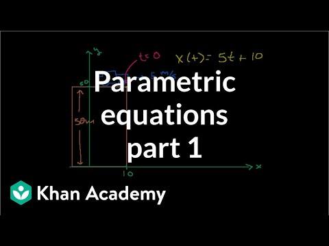 Parametric equations 1   Parametric equations and polar coordinates   Precalculus   Khan Academy