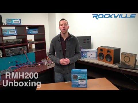 Unboxing Rockville RMH200B Single DIN Marine Receiver Waterproof Gimbal Housing Black