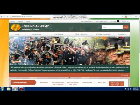 How to Registration indian army.