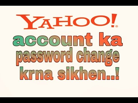 how to change yahoo account password  [ hindi / urdu ]