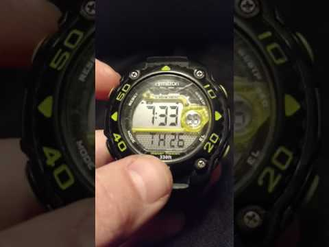 Switching from military time on Armitron All Sport Watch