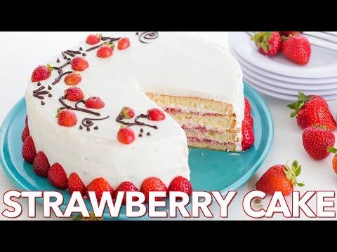 Dessert: Fresh Strawberry Cake - Natasha's Kitchen