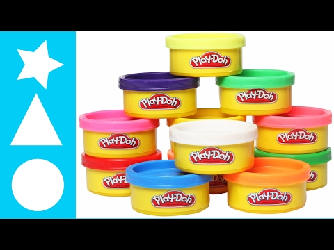 PLAY DOH FUN NAMING COLORS AND MAKING SHAPES