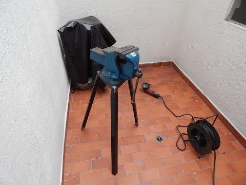 Fabricacion de soporte para prensa de banco (homemade vise stand)