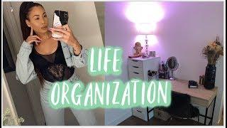 VLOG// LIFE ORGANIZATION, DECLUTTER & PLANNER UPDATE