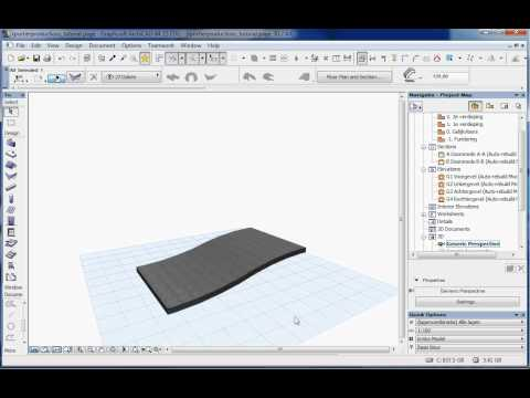 archiCAD 15 tutorial waved roof RPortierProductions