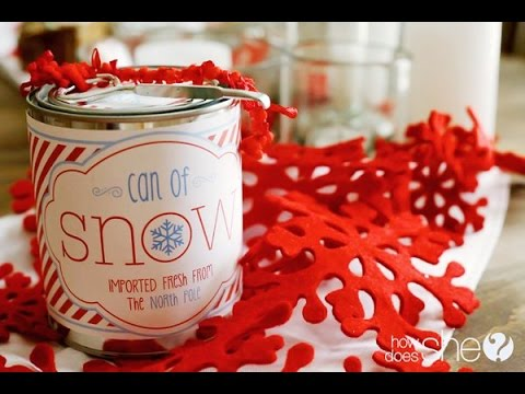 How To Make Snow:  Can of Snow Easy Recipe and Free Printable