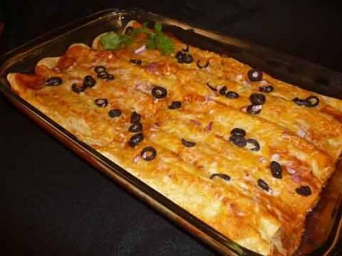Bean and Cheese Enchiladas Recipe