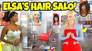 ELSA'S HAIR SALON. (Rapunzel is Out of Town and Hans Puts a Spell on Elsa)