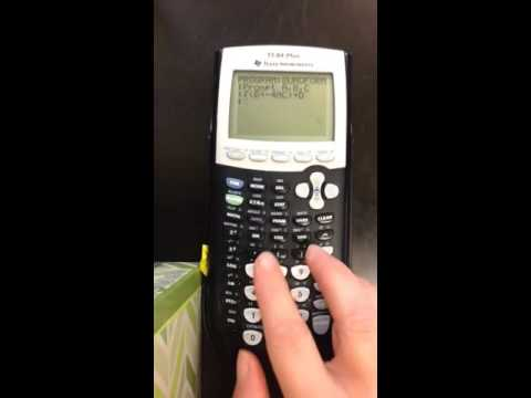 How to program your calculator with the Quadratic Formula