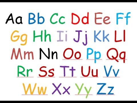 Teaching & Writing the English Alphabet | Tracing preschool alphabet for kids
