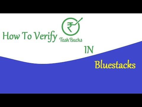 How To Verify TaskBucks In Bluestacks