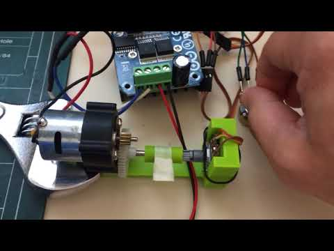 Arduino Servo DC Motor with Potentiometer