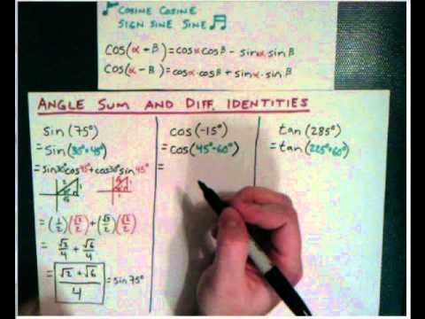 Angle Sum-Diff 3 Examples