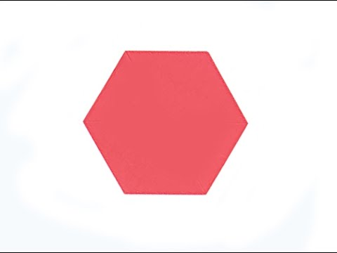 Easy way to make HEXAGON from a square paper. Origami Hexagon