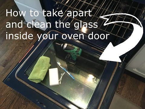 How to clean inside oven glass doors