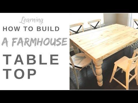 How to Build a Farmhouse Tabletop