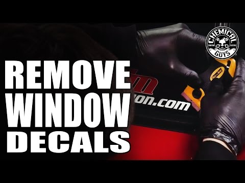 How To Remove Window Decals - Chemical Guys Car Care