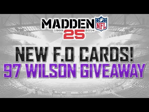 Madden 25 Ultimate Team | 97 Signature Russell Wilson Giveaway | New FO Cards 98 Sean Lee!