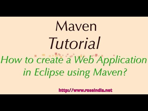 How to create a Web Application in Eclipse using Maven?