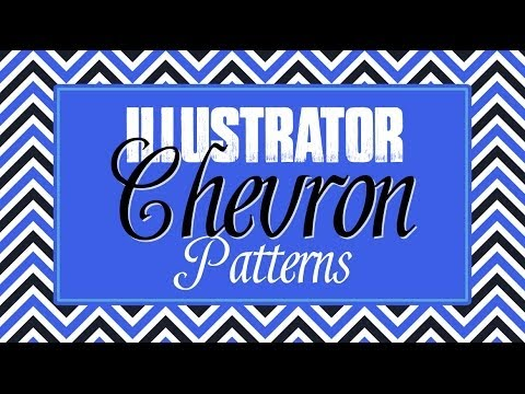 Create Chevron Patterns in Illustrator - How to Create Seamless Tiling Repeating Patterns