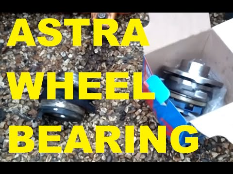 HOW TO: Vauxhall (Opel) Astra G 1.6 16v wheel bearing change