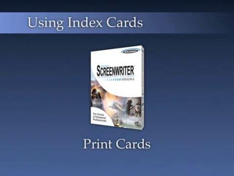 Using Index Cards: Print Index Cards 3/3