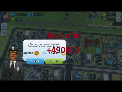 Simcity Buildit Proguilde earn 1 mil simoleons with Burger Trip
