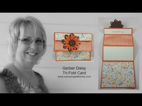 Gerber Daisy Tri-Fold Card