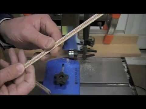 Woodworking - How to Cut Veneer of Custom Wood Inlay Banding - Online Project & Skills Tutorial