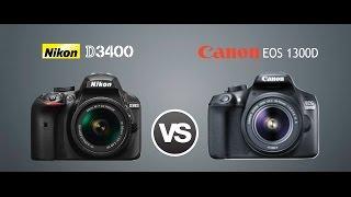 Nikon D3400 Vs Canon 1300D/T6